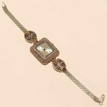 Real Amethyst White Topaz Wrist Watch 925 Sterling Silver Fine Wedding J... - $40.35