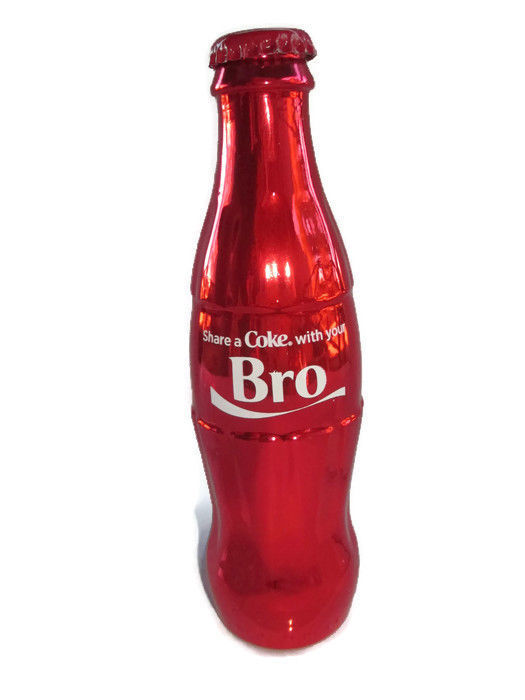 "Primary image for Coca-Cola Metallic Red Bottle ""Share a Coke with Your Bro""  Valentine's Day"