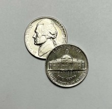 1945 P Jefferson Wartime Nickel AU About Uncirculated 35% Silver - $12.85