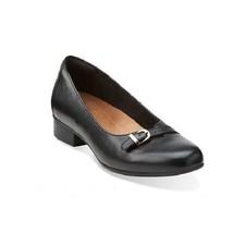 New Clarks Artisan Women's Keesha Raine Leather Slip On Loafer Black Size 8M - $66.32