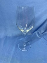 Vintage Beautiful Clear Crystal Single All Purpose Red Wine Glass - $9.99