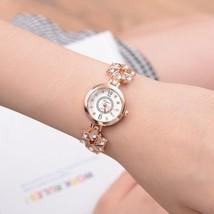 Lvpai® Watch Women Fashion Luxury Bracelet Silver Rose Gold Rhinestone Creative image 2