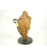Richard Lamson Black Capped Chickadee in Wood Trunk LE 157/1500 Figurine... - $49.45