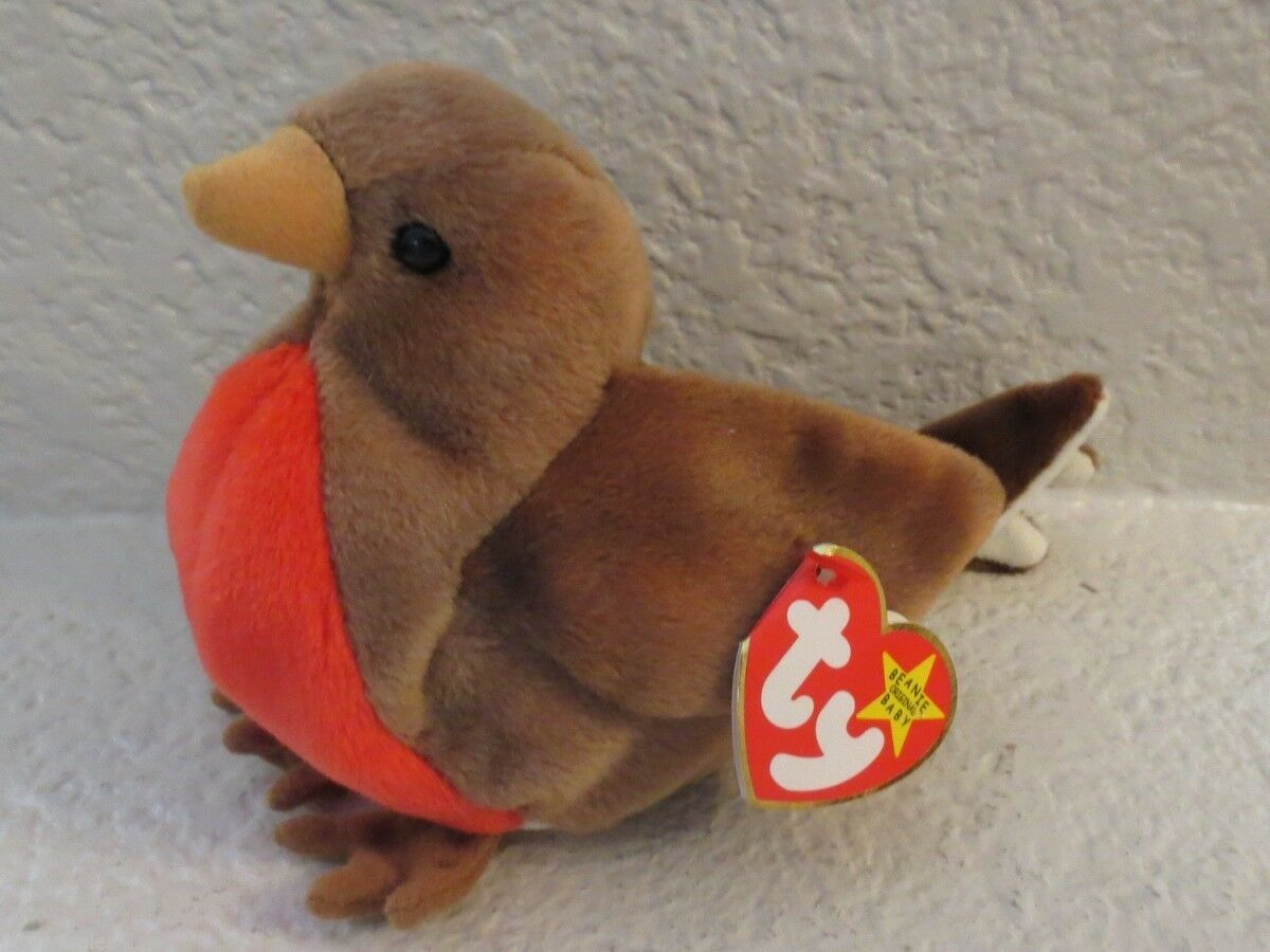 Primary image for Ty Beanie Baby Early the Robin 1997 5th Generation Hang Tag Gasport Tag Error