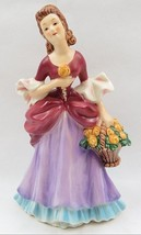 Vintage Goebel Porcelain Fashion Lady Figurine Lady Flower Basket Germany - $55.00