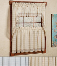 "Adirondack Cotton Kitchen Window Curtain 36"" Tiers, Swags, Valence Set - $40.99"