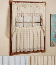 "Adirondack Cotton Kitchen Window Curtain 36"" Tiers, Swags, Valence Set - $40.99"