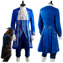 Beauty and the Beast Dan Stevens Prince Blue Suit Uniform Cosplay Costume Outfit - $168.22+