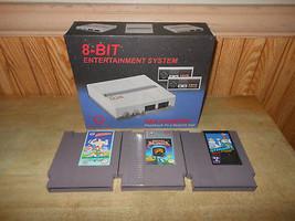 New Retro NES Nintendo Console Set with 3 Games Captain Skyhawk Amagon G... - $58.03