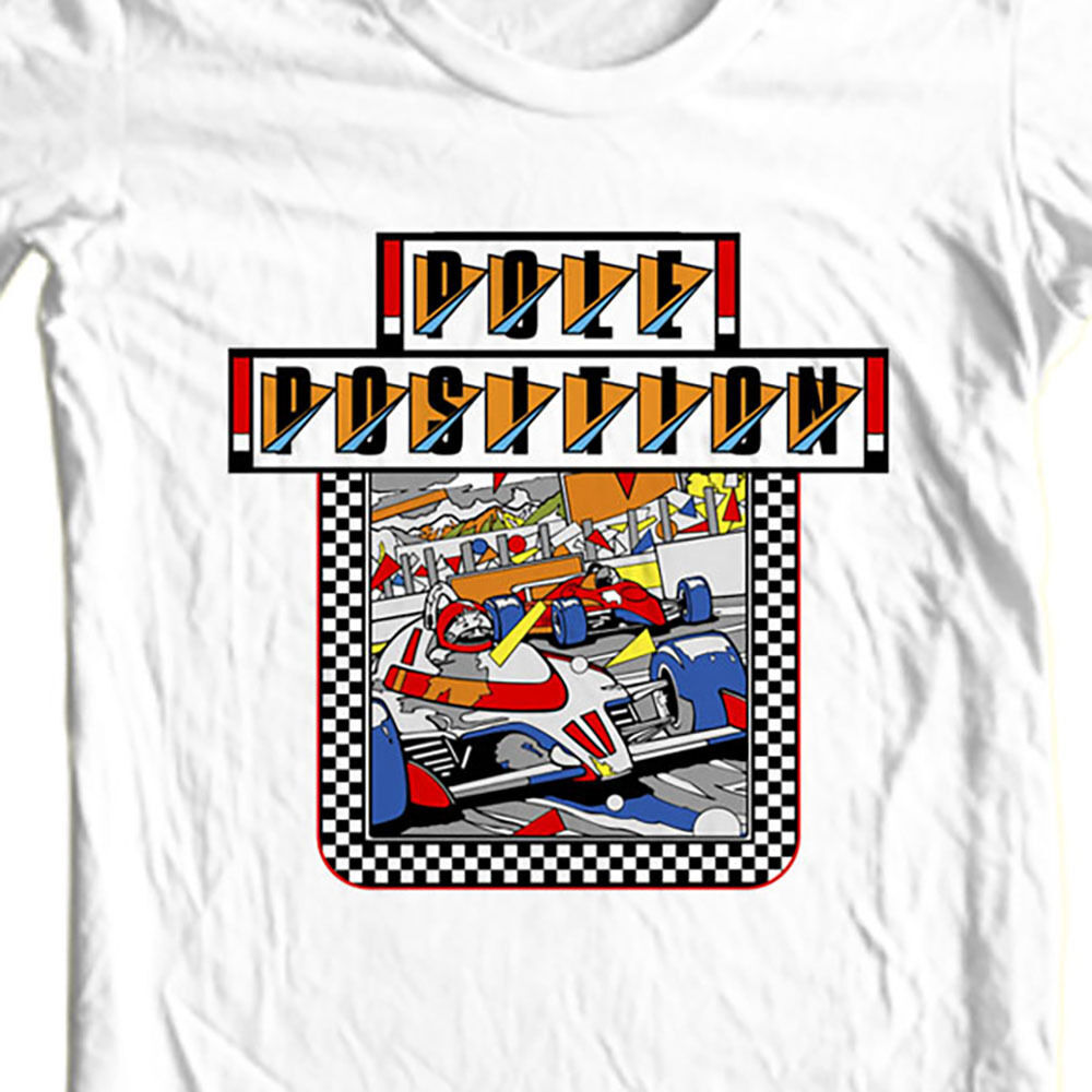 Pole Position t-shirt vintage retro old school arcade video game free shipping