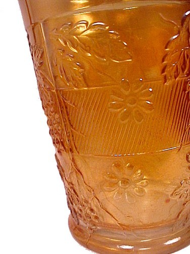 Fenton Floral and Grape Variant Marigold Carnival Glass