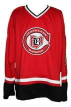 Gilles Meloche #27 Cleveland Barons Custom Retro Hockey Jersey New Red Any Size image 1