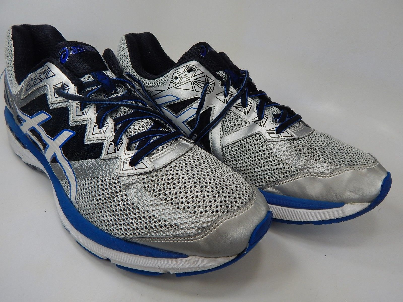 Asics GT 2000 v 4 Size US 13 M (D) EU 48 Men's Running Shoes Blue Silver T606N