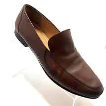Johnston & Murphy Brown Moc Toe Venetian Loafer Shoes Size 11 M Slip On ... - $36.99