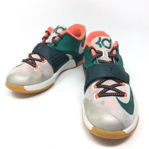 Nike Kevin Durant VII Easy Money Green Orange 669942-301 Boys Youth Shoes 4.5Y