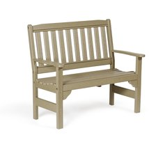 Leisure Lawns Amish Made Recycled Plastic 4' English Garden Bench Model ... - £324.85 GBP+