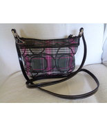 Coach SIS Tartan Plaid Crossbody Bag Patent Leather Trim Signature Logo  - $64.99
