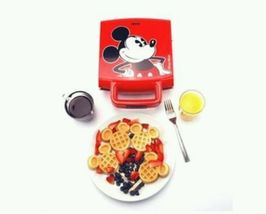Disney Waffle Maker Mickey Mouse Ears Breakfast Vintage Kitchen Red  - €64,50 EUR