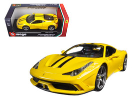 Ferrari 458 Speciale Yellow 1/18 Diecast Model Car by Bburago - $62.02