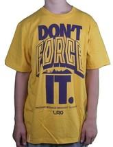 LRG L-R-G Mens Mustard Yellow Purple Don't Do Not Force It T-Shirt NWT