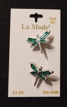 La Mode Aqua Dragonflies Buttons #34580 - $1.50