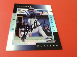 1998   ALEX  RODRIGUEZ  HAND  SIGNED  AUTOGRAPHED  PINNACLE  COMPLETE  P... - $49.99