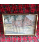 Unsigned Watercolor Remote Pink Cabin - $14.01