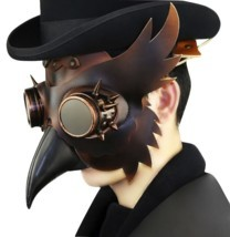 Reenactment Plague Doctor Steampunk Bird Leather Mask Halloween Gothic C... - £46.35 GBP