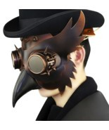 Reenactment Plague Doctor Steampunk Bird Leather Mask Halloween Gothic C... - $59.95