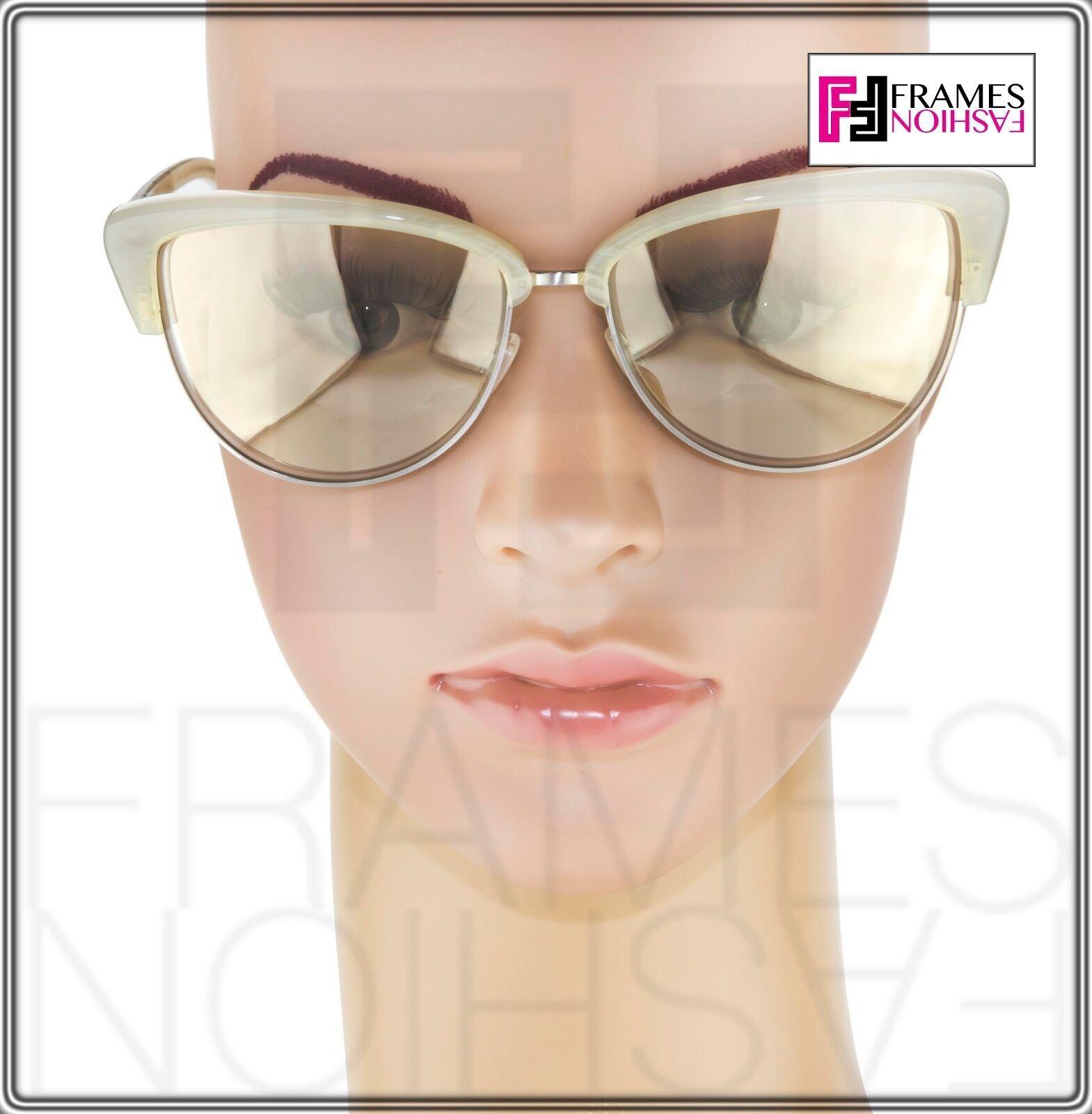 OLIVER PEOPLES ALISHA OV5244S White Pearl Flash Mirrored Sunglasses 5244 Women image 3