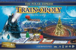NEW SEALED Masterpieces Polar Express Trainopoly Board Game  - $37.39