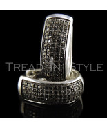 Mens Ladies .48CT Real Diamond Black Gold Fin H... - $247.49