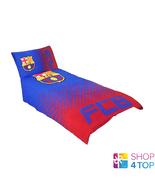 FC BARCELONA SINGLE DUVET SET FADE REVERSIBLE OFFICIAL FOOTBALL SOCCER T... - $46.62