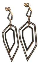Edison 14K Yellow Gold Plated Cubic Zirconia Dangle Drop Post Earrings image 3