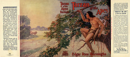 Edgar Rice Burroughs - TARZAN OF THE APES facsimile dust jacket 1st Gros... - $29.35