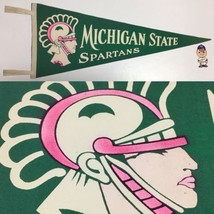 1950's Vintage Michigan St State Spartans College University Pennant 12x... - $74.20
