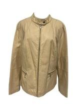 Black Rivet women's jacket polyurethane full zipper long sleeve size XL - $19.77