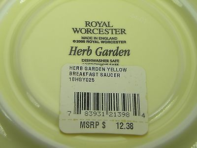 Royal Worcester Herb Garden Yellow Breakfast Cup & Saucer NEW WITH TAGS