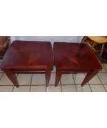 Pair of Mahogany End Tables / Side Tables  (T717) - $399.00