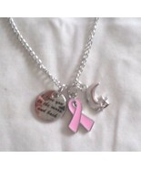 """GNK LOVE YOU TO THE MOON & BACK charm on 16""""-18"""" link chain in gift bag - $3.95"""