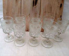 Set of 8 ANCHOR HOCKING WEXFORD WINE GOBLETS 5- 1/4 in. H     image 1