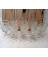 Set of 8 ANCHOR HOCKING WEXFORD WINE GOBLETS 5- 1/4 in. H     - $19.79
