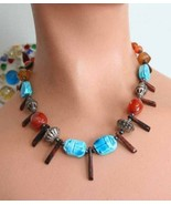 Judy Strobel Ancient Style Scarab Necklace - $59.95