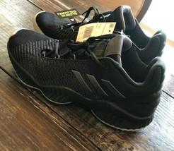Adidas Pro Bounce Low Basketball Shoes NBA Glowing Black Mens Size 9.5 - $87.12