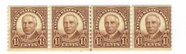 1930 Warren G Harding Coil Line Strip of 4 US Stamps Catalog Number 686 MNH