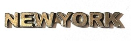 New York Word Fine Pewter Plage Tag Diy  - Approx. 1 7/8 inches Long   (T235)
