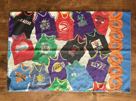 Vintage 90s 80s NBA Standard Pillow Case Pacers Timberwolves Nets 76ers ... - $9.45