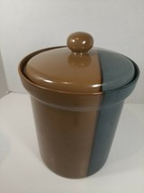 """Sango 5040 Gold Dust Green Med Canister with Lid - 6.25"""" w/o lid, 7.5"""" with lid - $14.24"""