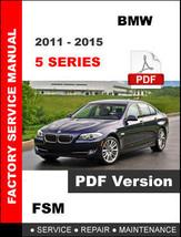 Bmw 5 Series 2011 - 2015 F10 Workshop Oem Service Repair Factory Manual - $14.95