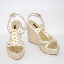 Louis Vuitton High Wedge Heel Sandals Platform Pumps Ankle Strap Shoes Sz US 6.5 - $354.99